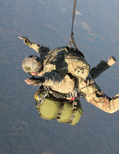 Heavy Load Tactical solo skydive