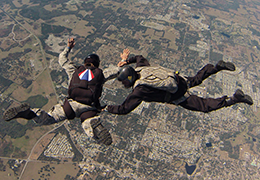 Military Instructor System tandem skydive
