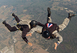 Military Student System tandem skydive