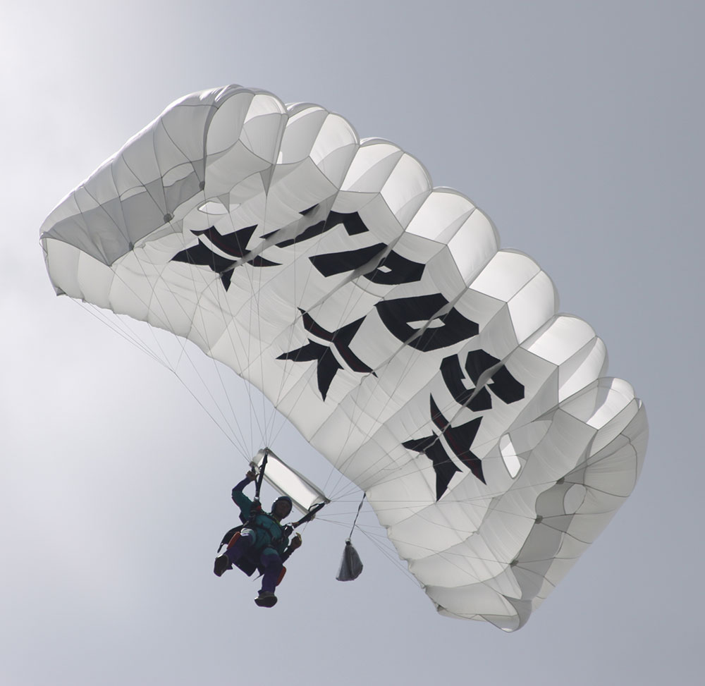White canopy with TPDS logo