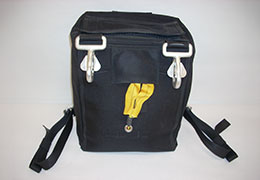 Black Flight bag for demonstration flags