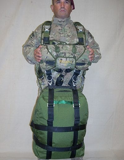 Front view of man posing with Invasion II with Rapid Release Harness