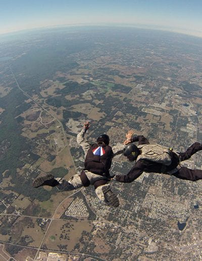 Light Load Tactical with Instructor in freefall