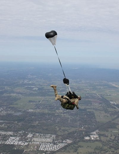 Light Load Tactical with Rapid Release Harness in freefall
