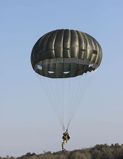 Landing in an Invasion II Non-Steerable parachute