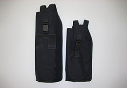 Black pouch for an oxygen bottle