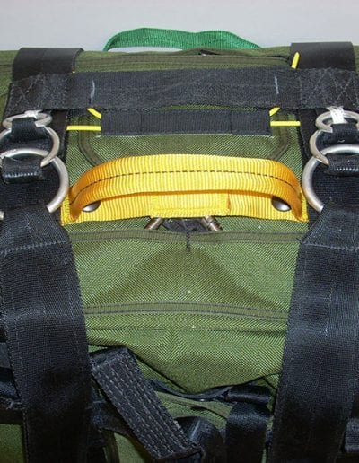Green Rapid Release Harness with black straps