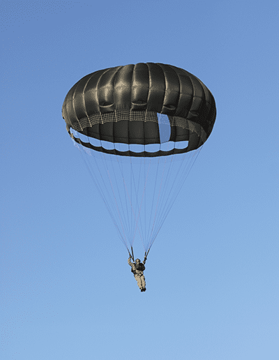 Descending in an Invasion II Steerable parachute